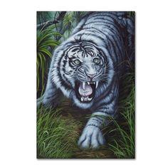 Jenny Newland 'White Tiger' Canvas Art
