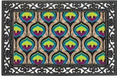Amazon.com: Peacock,Coir Floormat With Black Rubber Base,28x16 Inches: Patio, Lawn & Garden