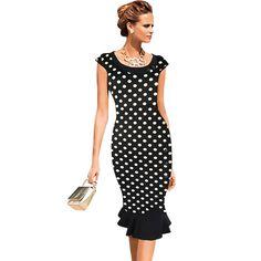 Msguide Frauen Vintage Elegante Formale Spitze Taste Patchwork Tunika Arbeit…