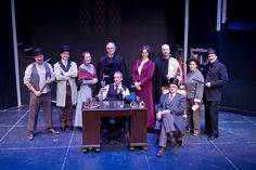 "Cast of ""Sherlock Holmes: The Final Adventure"" at Wheaton Drama, 2013. Photo by Ken Beach."