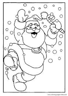 Santa Claus dancing color page