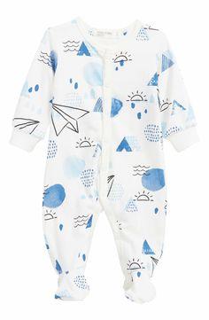 Main Image - Miles Baby One-Piece Footie Pajamas (Baby Boys)