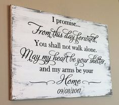 I promise From This Day Forward Engraved Wood Wall Art For Weddings Rustic Wedding Vow Wood Sign, From This Day Forward, Carved Wood Sign, I Promise Wood Sign, Wood Wedding Sign Wedding Vows, Wedding Events, Wedding Quotes, Fall Wedding, Wedding Speeches, Wedding Reception, Destination Wedding, Wedding Week, Wedding Anniversary