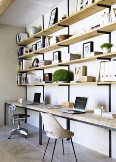 Peu d'espace de rangement dans le bureau? Après avoir vu ces photos, vous allez courir chez Ikea! - Trucs et Bricolages