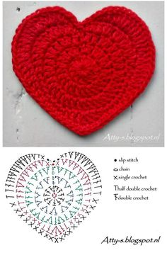 we have a collection here the 70 Free Crochet Heart Patterns that come in dashing yarn colors and are too beautiful to captivate your eyes! Just like other crochet motifs like a square or mandala motif Free Heart Crochet Pattern, Crochet Coaster Pattern, Crochet Motifs, Crochet Diagram, Crochet Stitches Patterns, Crochet Designs, Knitting Patterns, Quick Crochet, Double Crochet