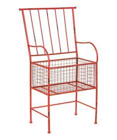 Look what I found on #zulily! Red Rust Chair Planter #zulilyfinds