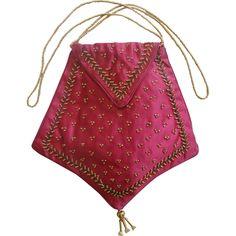 Regency silk reticule purse, antique, early 19th century