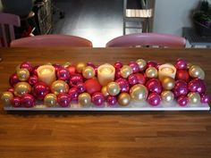 Arrangement of christmas balls