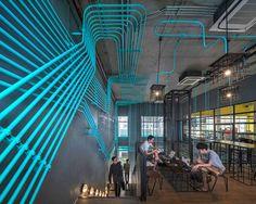 裸露管線輕工業風!曼谷共同工作空間 HUBBA-TO   設計王