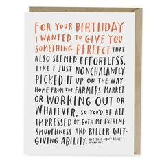 Awkward Birthday Card | Emily McDowell Studio