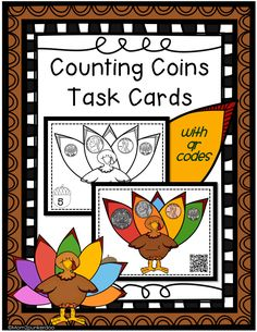 Thanksgiving Counting Coins Task Cards #Thanksgiving #math #coins