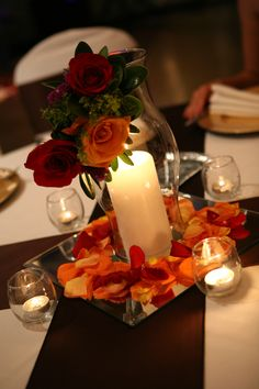"centerpiece idea (""Hurricane Corsage"")"