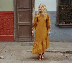 CHARLOTTE DRESS -- GOLDEN HOUR