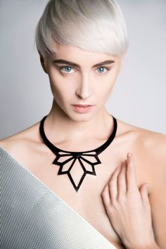 Handcrafted Necklace from Upcycled Inner Tube. Close with stainless steel lobster and rings, nickel free. For more info, please feel free to Leather Necklace, Men Necklace, Leather Jewelry, Leather Craft, Black Necklace, Laser Cut Jewelry, 3d Printed Jewelry, Geometric Jewelry, Jewelry Art