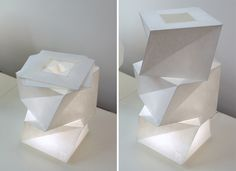 Nice foldable textile lamp  In-ei fot artemide by Issey Miyake