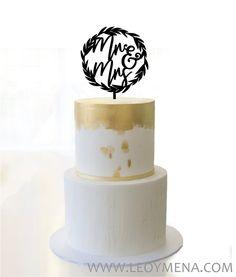 Mr and Mrs Wedding Cake Topper Rustic Wedding Cake Toppers, Wedding Topper, Wedding Cakes, Mr And Mrs Wedding, Wreaths, Etsy, Vintage, Tortilla Pie, Weddings
