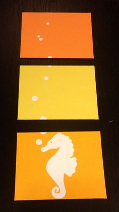 Hey, I found this really awesome Etsy listing at https://www.etsy.com/listing/179344624/three-piece-seahorse-painting