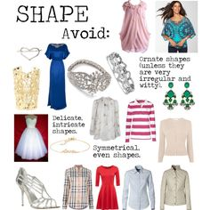 """""""Flamboyant Gamine (FG) Shape to avoid"""" by lightspring on Polyvore"""