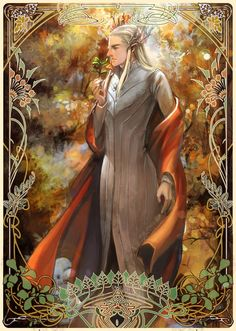 """Thranduil from """"The Hobbit"""" - Art by 阿驴"""