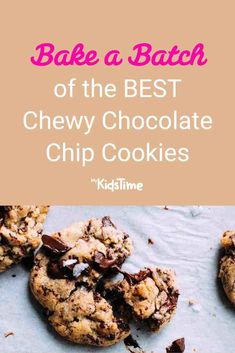 Bake a Batch of the BEST Chewy Chocolate Chip Cookies! Easy Cookie Recipes, Brownie Recipes, Dessert Recipes, Chewy Chocolate Chip Cookies, White Chocolate Chips, Favorite Cookie Recipe, Favorite Recipes, Cookie Dough, Sweet Treats