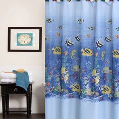 Found it at Wayfair - Colorful Tropical Sea Printed Shower Curtain