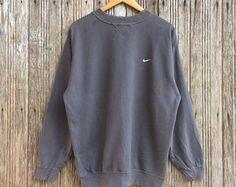 Rare!! De taille moyenne Nike Swoosh Sweatshirt pull pull Vintage