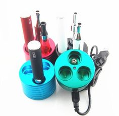 wholesale E Cigarette Accessory ecigarette holder ego evod battery charger base,metal ego base and silicone display ego stand base e cig holder with factory price best selling from yunsenya in 2015