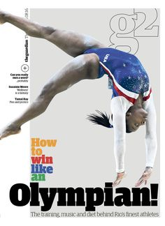 Guardian g2 cover: How to win like an Olympian #editorialdesign #newspaperdesign #graphicdesign #design #theguardian