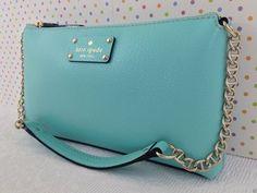 AUTHENTIC (NWT) Kate Spade Wellesley Byrd Shoulder Bag - Fresh Air Blue wkru1427 - $188