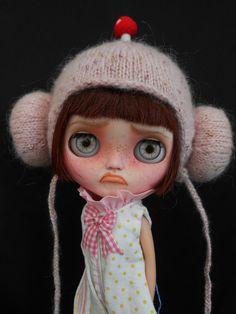 Ooak Custom RBL Blythe Doll Faceplates. por Spookykidsworkshop