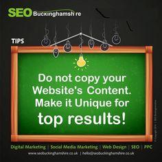 SEO Tips: Do not copy your Website's #content . Make it unique for top results!  #seotips #seo #blogging #bloggingtips #websitetraffic #keywordsranking #london #newyork #texas #canada #bucks #shoreditch #ukblogger #ukblog #losangeles #ohio