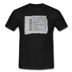 Sheldon`s Schedule T-Shirt | Spreadshirt | #Big Bang #Sheldon #fashion #print