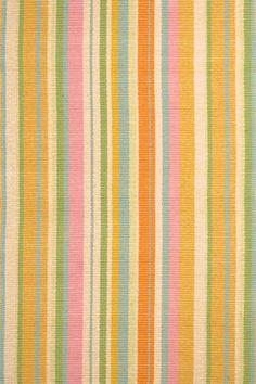 Tangerine Dream Woven Cotton Rug | DASH & ALBERT
