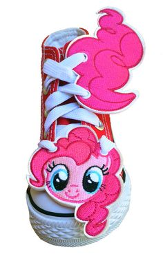 My Little Pony Pinkie Pie Face & Tail. My Little Pony Shoes, Pinkie Pie, Creative Inspiration, Addiction, Coin Purse, Arts And Crafts, Socks, Sewing, Face