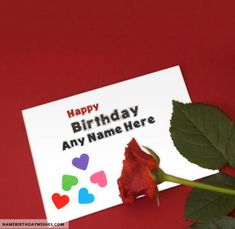 Lovely Birthday Card Template For Lover With Name Free Happy Cards