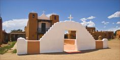 The pueblo's church is beautiful, but newer – dating back to 1850.