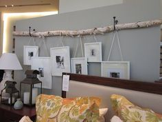 Rustic Picture Fame Holder [http://indulgy.com/post/LL91sihfS1/such-a-great-idea-to-hang-pictures]