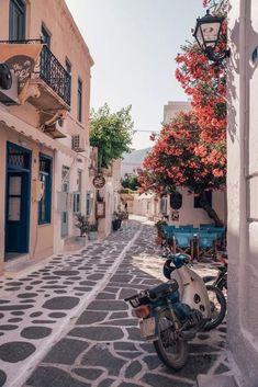 Paros Greece, Paros Island, Beautiful Places To Travel, Romantic Travel, Europe Destinations, Amazing Destinations, Travel Aesthetic, Beach Aesthetic, Greece Travel