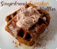 Gingerbread Pumpkin Waffles. double damn.