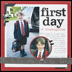 Image detail for -make a school year scrapbook album get more back to school page ideas . 1st Day Of School, School Days, Back To School, School Times, School Grades, Middle School, School Scrapbook Layouts, Scrapbooking Layouts, Paper Bag Scrapbook