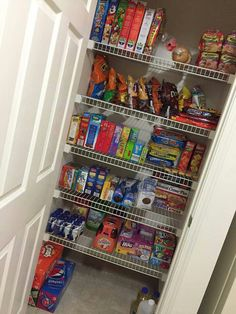 This is my pantry goal but my pantry is full of can goods...lol   and totally unorganized but my hubby and I will tackle this task this week!!