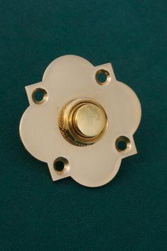Brass Door Bell Push Quartrefoil | Priors //.priorsrec.co & 1930\u0027s Brass Electric Bell Press.www.antiquedoorfittings.co.uk ...