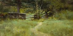 Mark Boedges A Walk in the Woods Great Paintings, Fantasy Paintings, Seascape Paintings, Landscape Paintings, Oil Paintings, Mary Cassatt, Pierre Bonnard, Green Landscape, Abstract Landscape