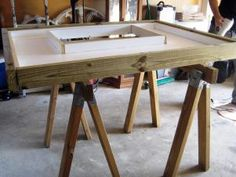 A sturdy frame for your mold will keep the heavy concrete from bending it.