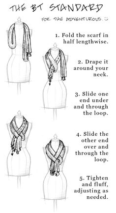 This is how I always wear my scarves, and people always compliment and ask how I did it. So easy!!