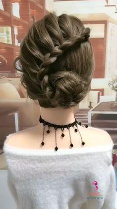 Hairdo For Long Hair, Bun Hairstyles For Long Hair, Girl Hairstyles, Braided Hairstyles, Front Hair Styles, Medium Hair Styles, Hair Style Vedio, Hair Videos, Hair Hacks