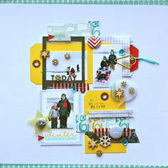 Adrienne Alvis Table Scraps: Winter Wonderland  Love the colors and tags!