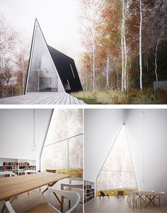 Allandale House, an asymmetrical two-story A-frame home by William O'Brien Jr., independent architect and Asst Prof of Architecture at the MIT School of Architecture and Planning.