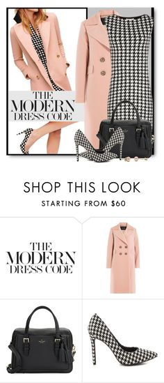 """""""The Modern Dress Code"""" by brendariley-1 ❤ liked on Polyvore featuring Tara Jarmon, Kate Spade, Penny Loves Kenny, modern, dress and houndstooth"""