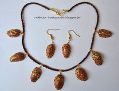 Hobby Crafts :): Decoupage pistachio shells necklace